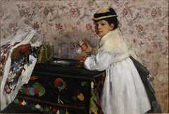 Portret Hortensji Valpinçon - Edgar Degas Kategoria MALARSTWO